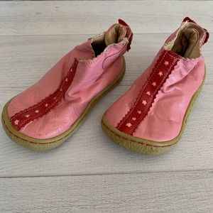 Livie & Luca pink flower leather shoes size 7
